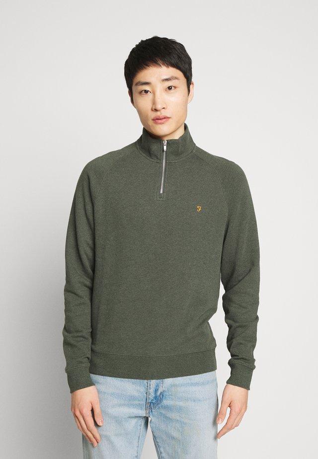 JIM ZIP - Sweatshirt - deep olive