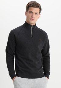 Farah - JIM ZIP - Sweatshirts - black marl - 0