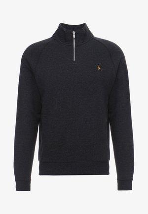JIM ZIP - Sweatshirt - black marl