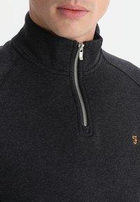 Farah - JIM ZIP - Sweatshirts - black marl - 3
