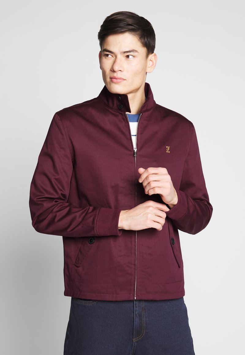 Farah - HARDY HARRINGTON - Bomber Jacket - farah raspberry