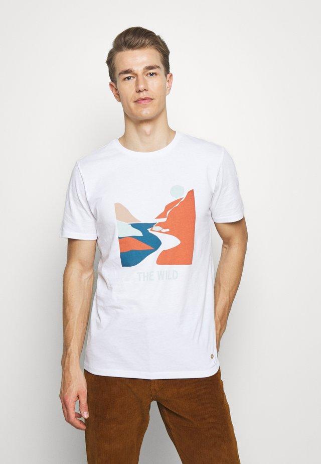 UNISEX - T-shirt med print - weiss