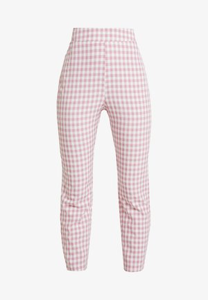 GINGHAM FROZAY - Trousers - pink
