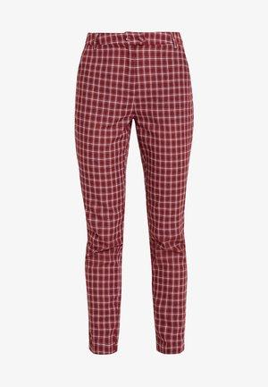 BRICK TROUSERS - Pantalon classique - red check