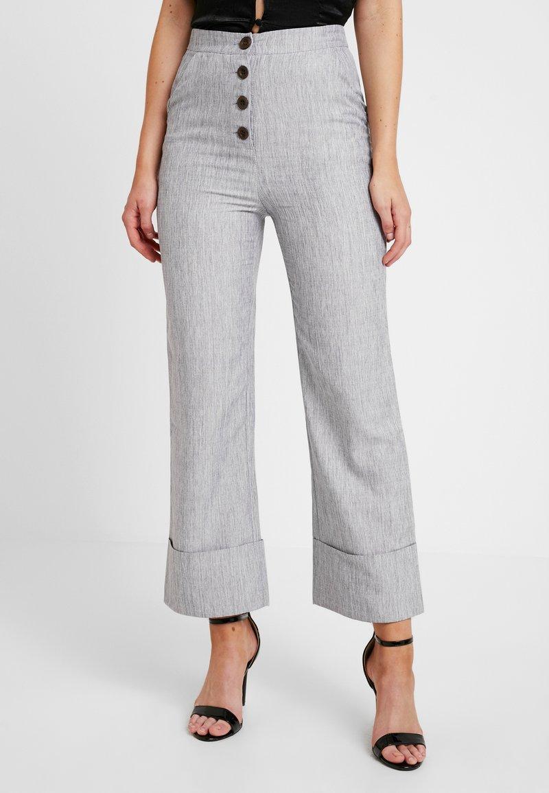 Fashion Union - NERDY TROUSERS - Kalhoty - grey