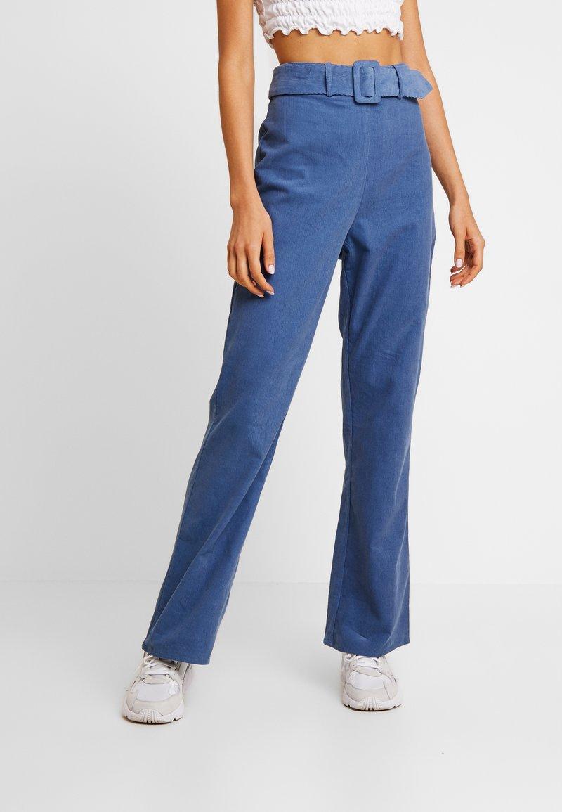 Fashion Union - LONGSAM - Tygbyxor - blue
