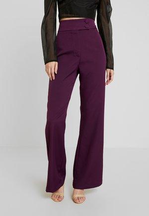 SPOON TROUSER - Pantalon classique - purple