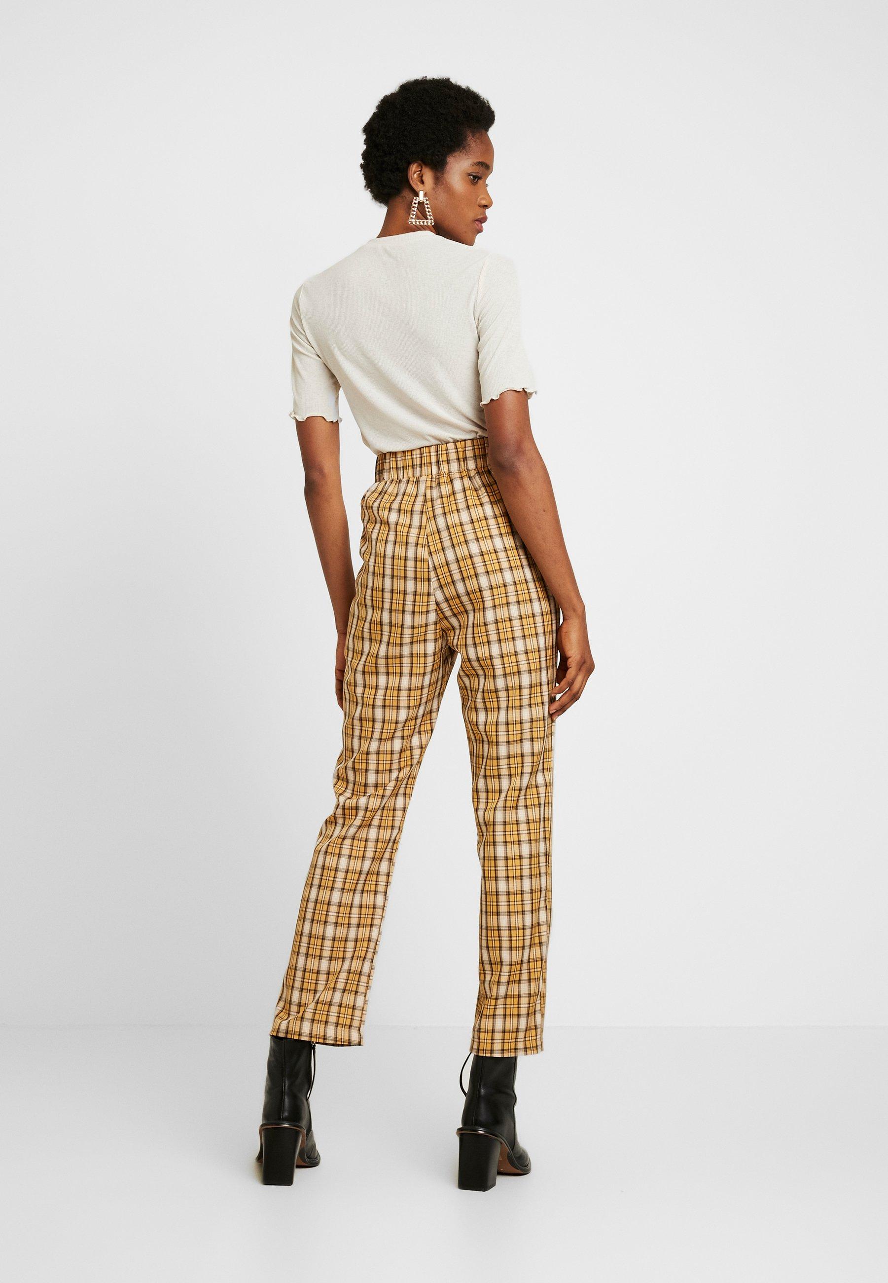 Fashion Union Clueless Trousers - Pantalon Classique Yellow