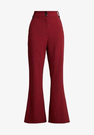 VELMAS TROUSER - Kalhoty - burgundy