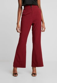 Fashion Union - VELMAS TROUSER - Broek - burgundy - 0