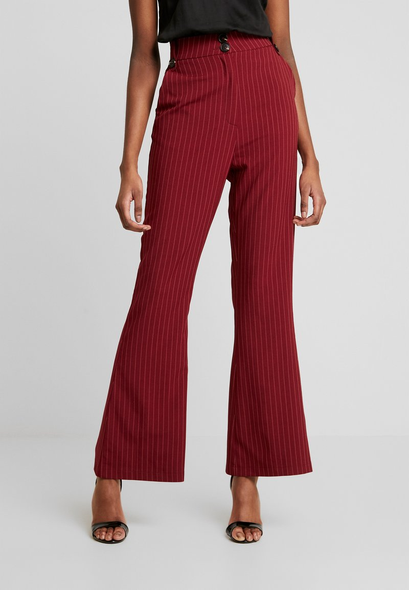 Fashion Union - VELMAS TROUSER - Broek - burgundy