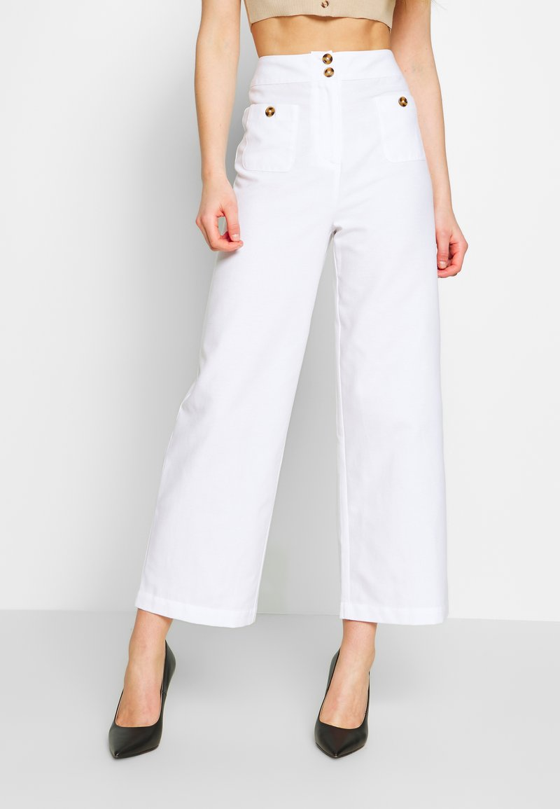 Fashion Union - WISTER TROUSERS - Trousers - cream