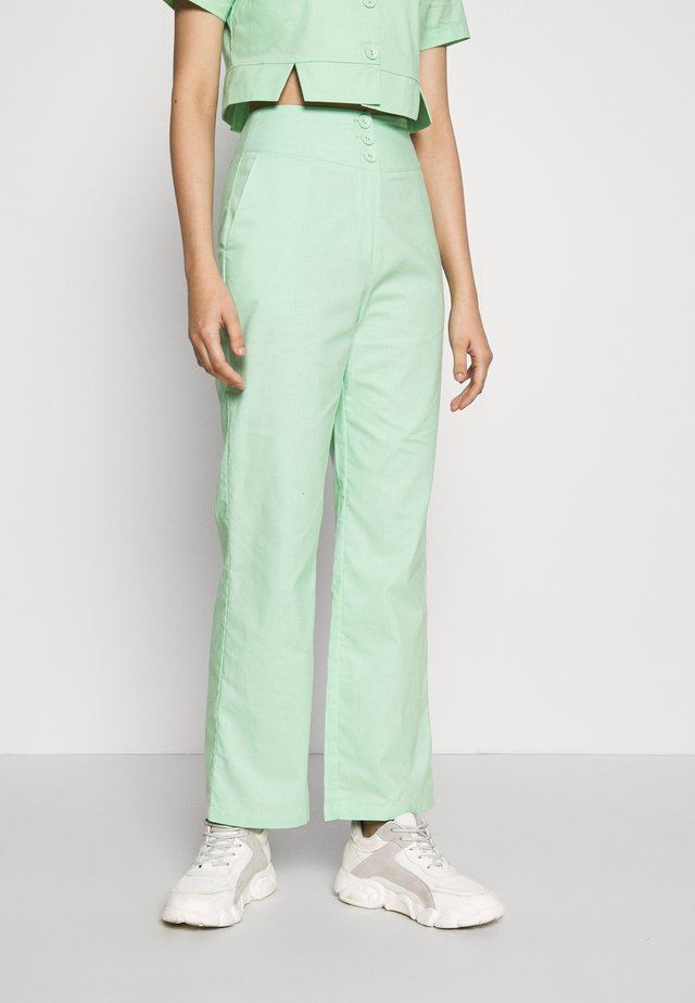 FRESH TROUSERS - Tygbyxor - neo mint