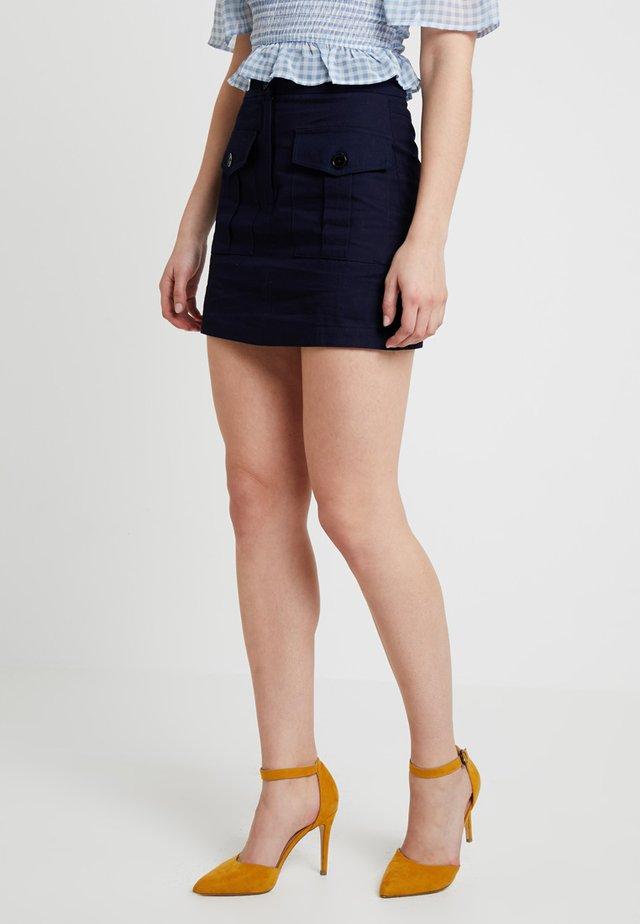 UTILITY JORDAN - Mini skirt - dark blue