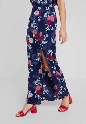 EXCLUSIVE RUMBLE - Maxi skirt - dark blue