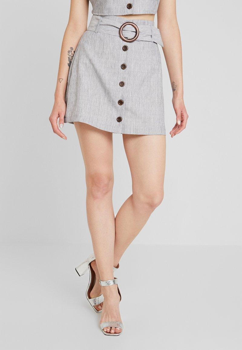 Fashion Union - SMARTY SKIRT - Falda acampanada - grey