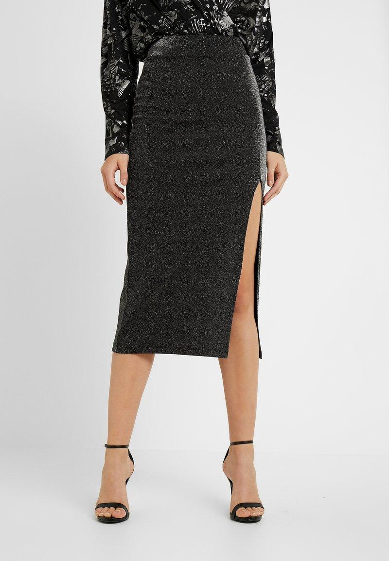 Fashion Union - ALYX - Pencil skirt - black/silver