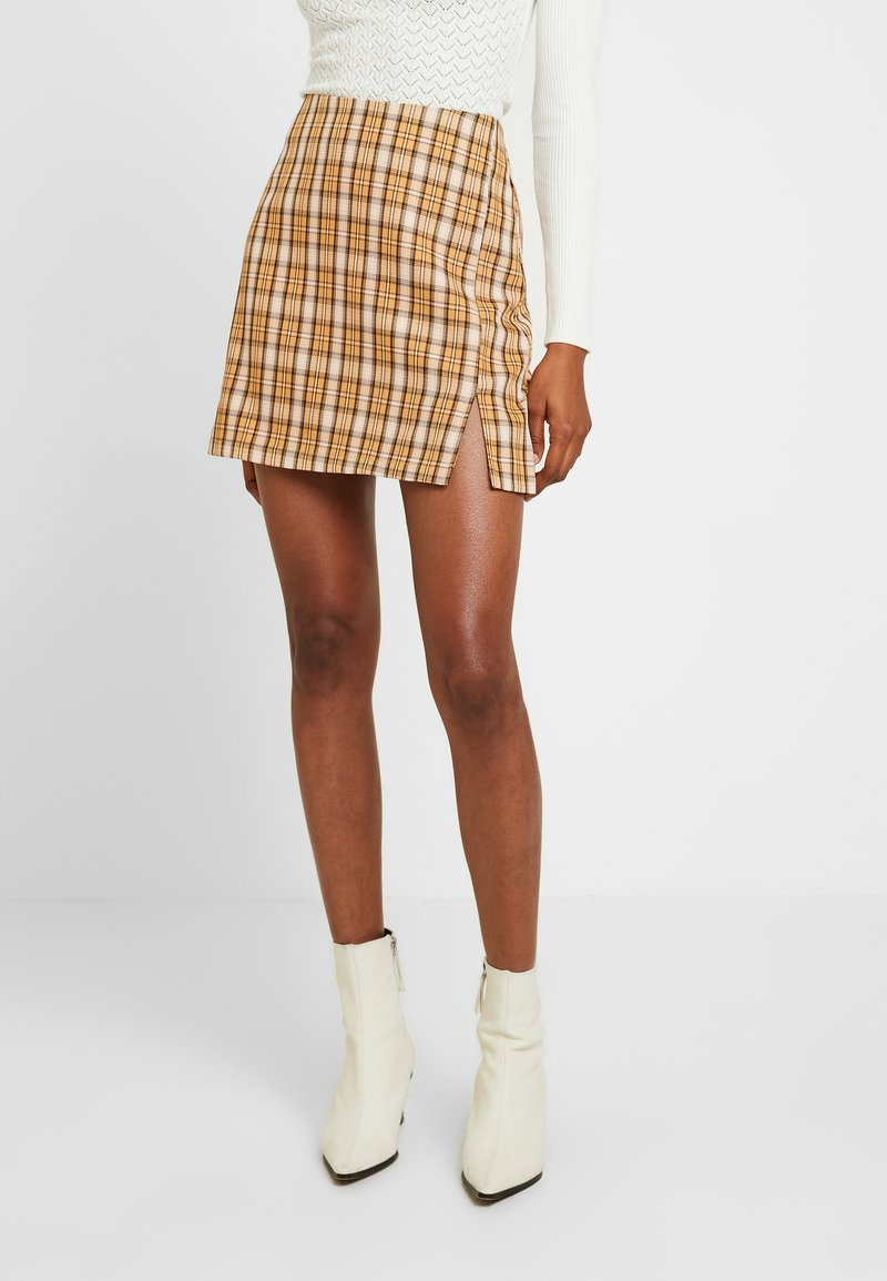 Fashion Union - CLUELESS SKIRT - A-Linien-Rock - yellow