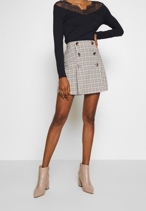 BETTY SKIRT - Minifalda - black/cream