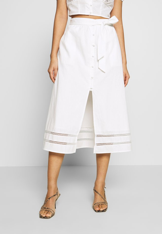 CAPOTE SKIRT - A-line skirt - white