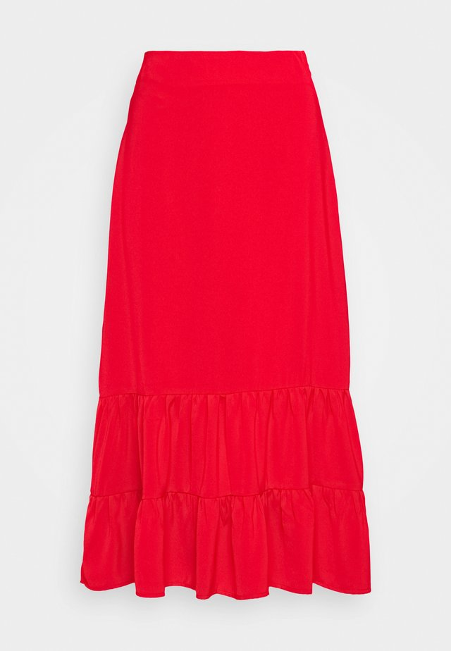 GOLDY SKIRT - A-linjainen hame - red
