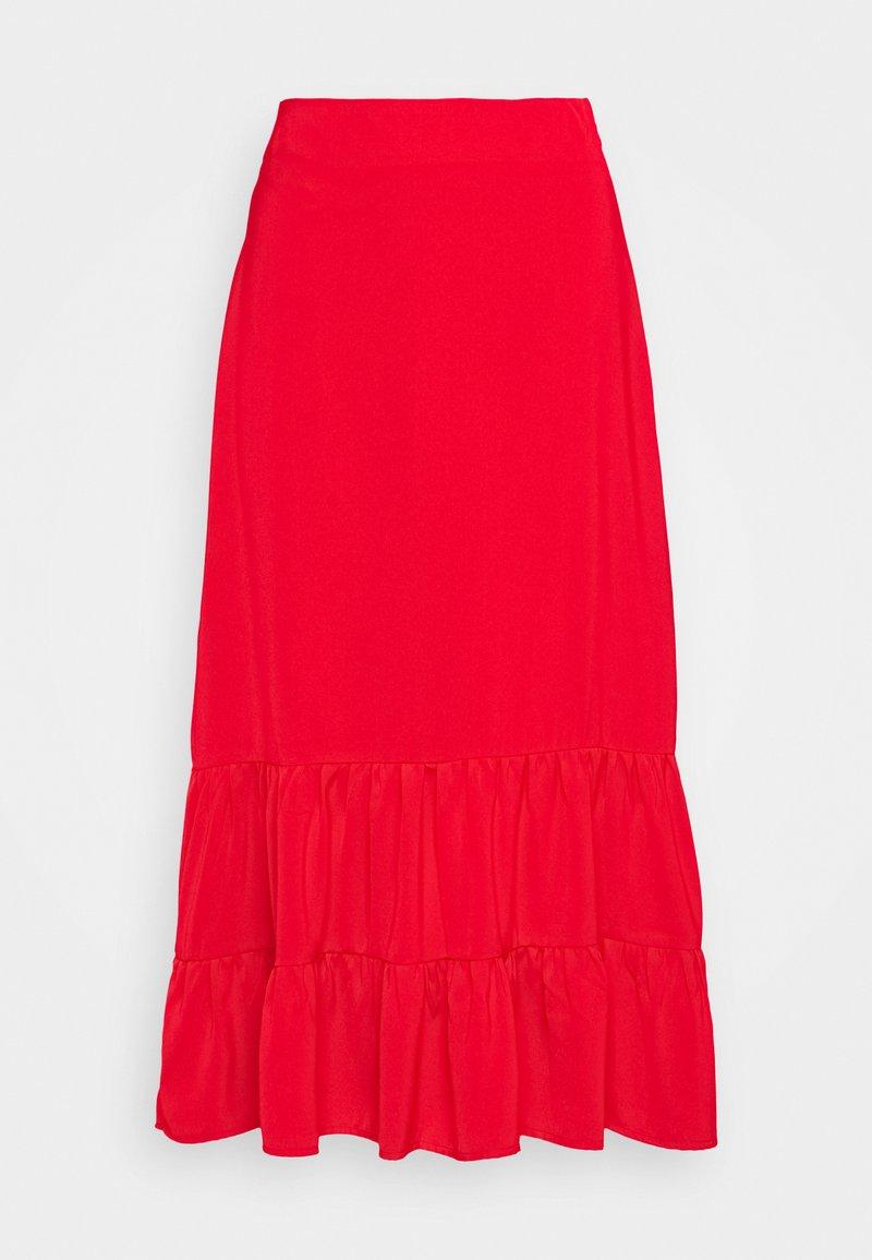 Fashion Union - GOLDY SKIRT - Áčková sukně - red