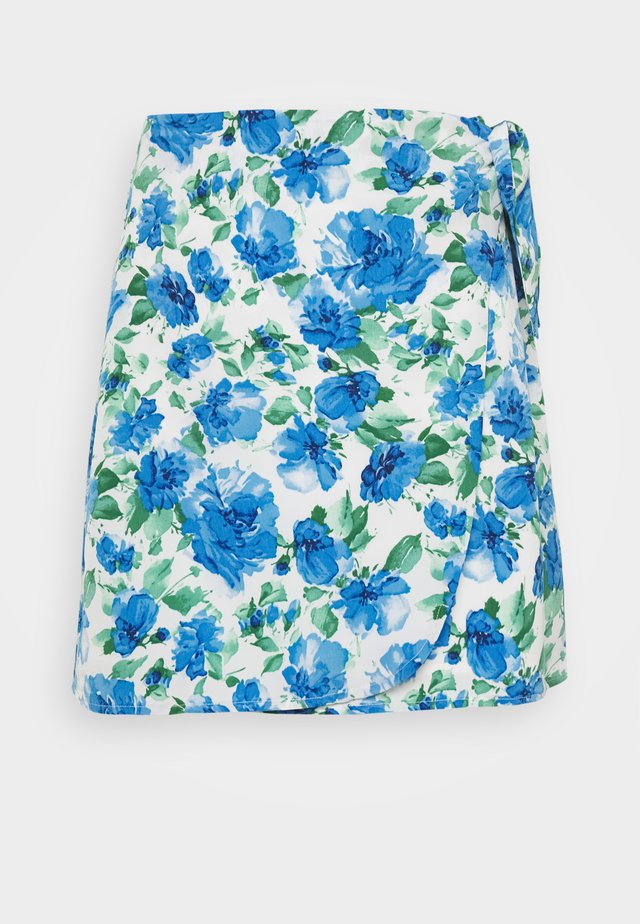 DOVE SKIRT - A-linjekjol - white/blue