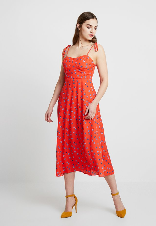 PEACHY - Day dress - tangerine dream
