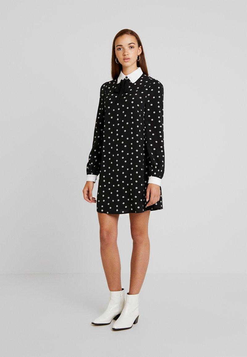 Fashion Union - PIANA - Vestido camisero - black