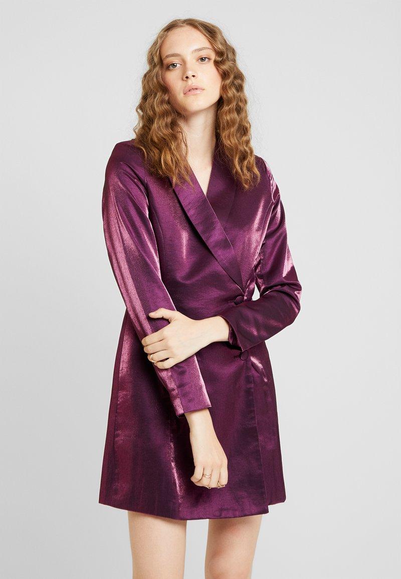 Fashion Union - LOREM - Denní šaty - plum