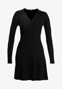 Fashion Union - NAPA - Pletené šaty - black - 5