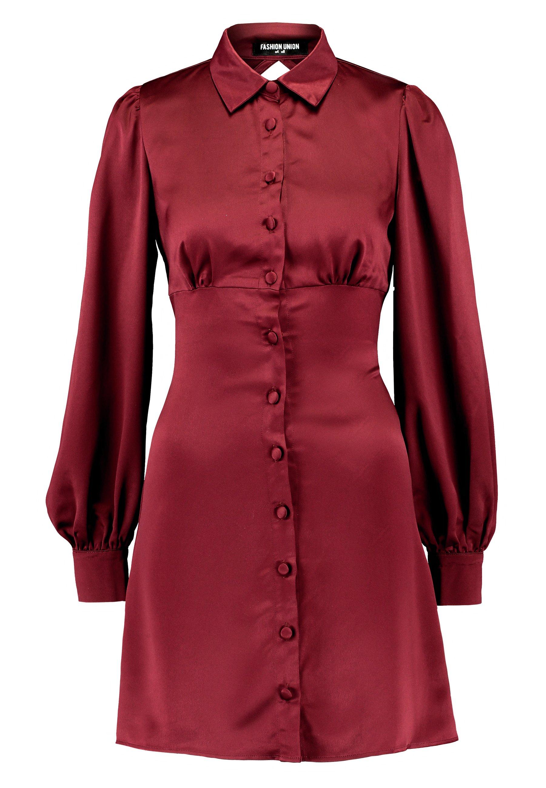 Fashion Union Lord - Skjortekjole Burgundy