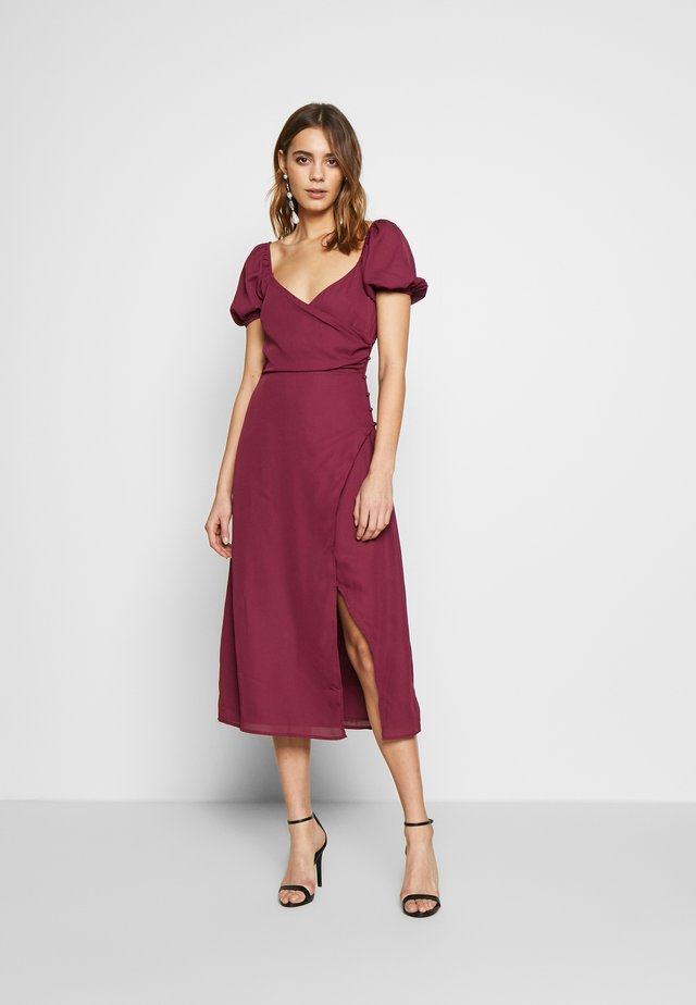 COLLI VERSION - Korte jurk - plum