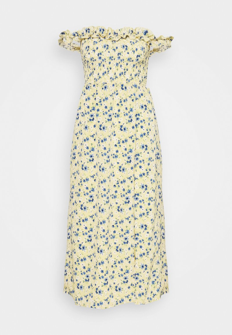 Fashion Union - ASHANTI - Maxi šaty - yellow/blue