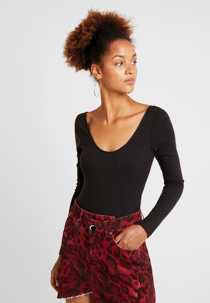Fashion Union - ZESTY - Top sdlouhým rukávem - black