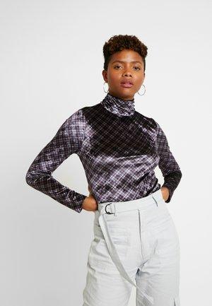 ELIZABETH - Long sleeved top - black/purple