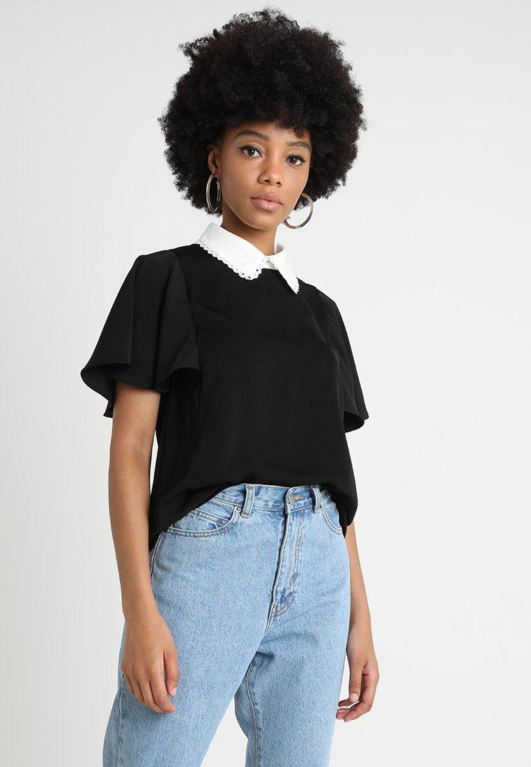 Fashion Union - CADEN - Blouse - black/white