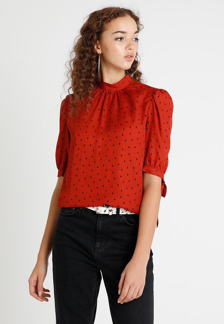 Fashion Union - RON - Bluzka - rust smudge