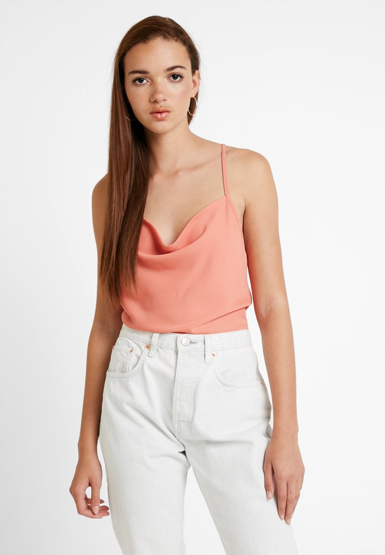 Fashion Union - COWLA - Top - cantaloupe orange
