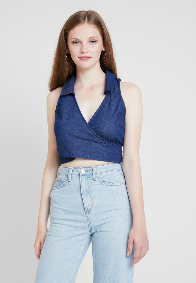 Fashion Union - HALTIE - Blusa - blue
