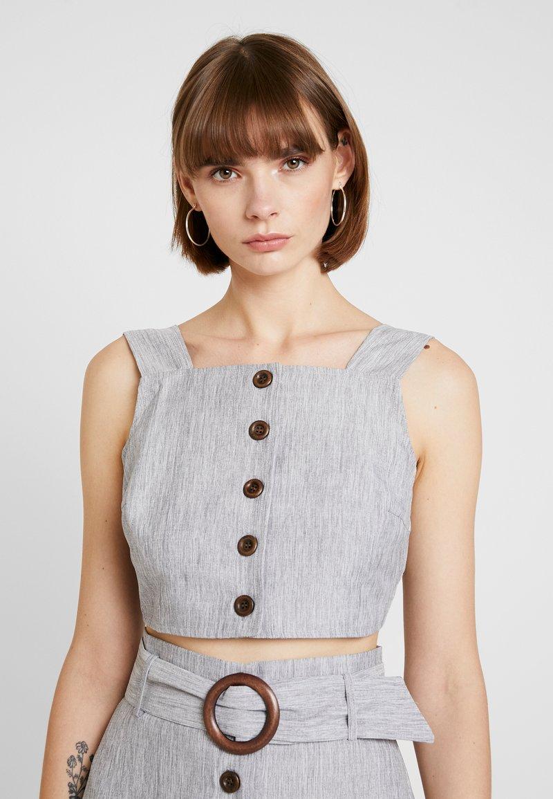 Fashion Union - SMARTY - Blouse - grey