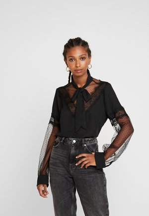 JONNO - Button-down blouse - black