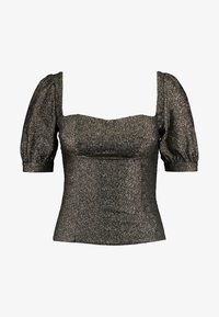 Fashion Union - CHIARA - Blus - black/gold - 3