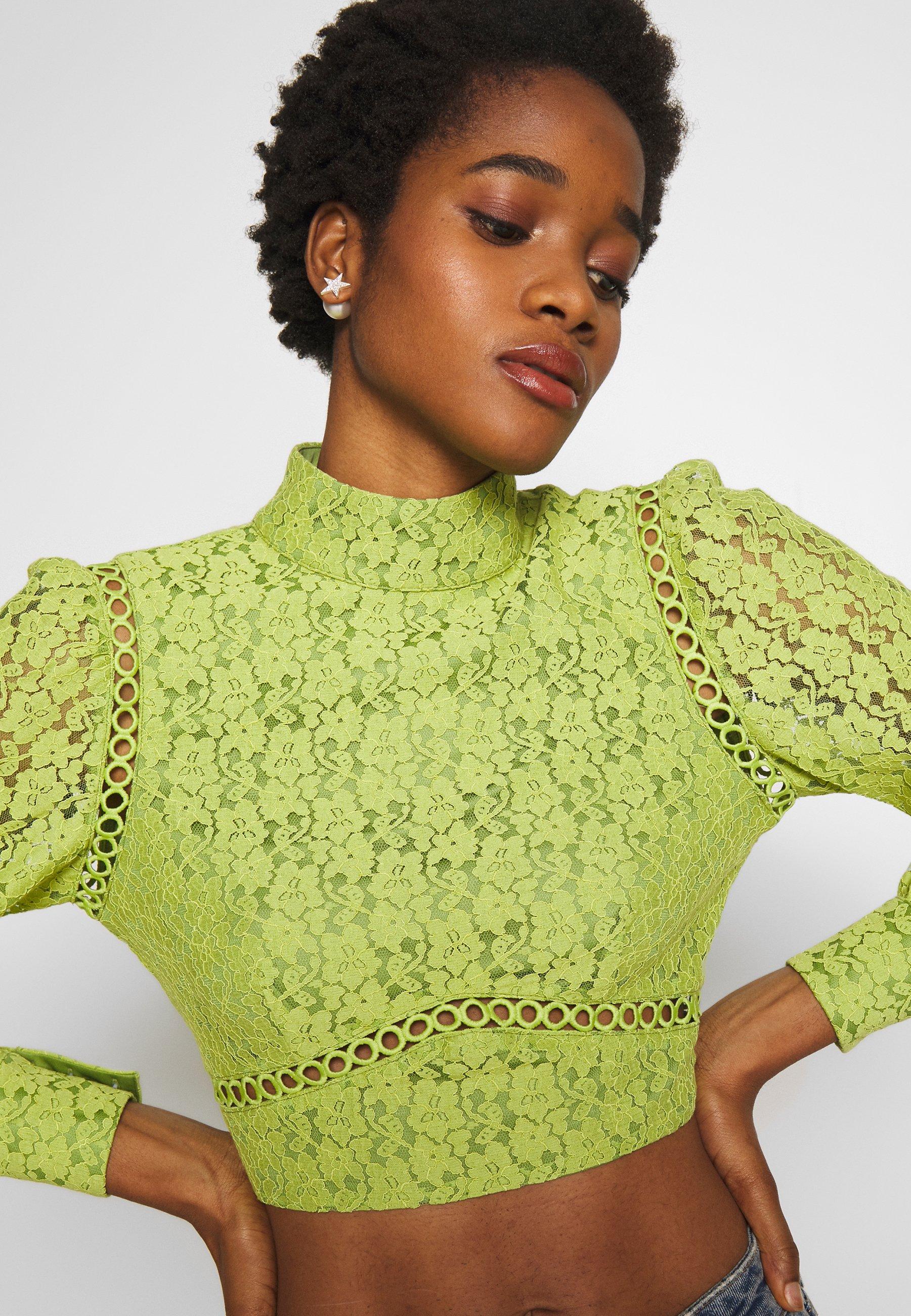 Fashion Union LESSAY - Bluzka - green