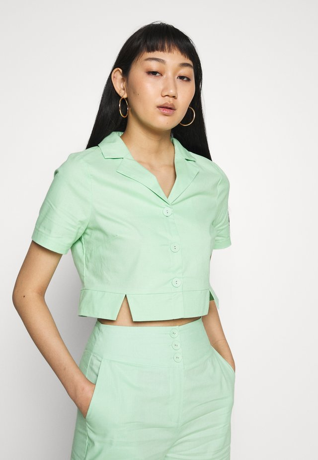 FRESH - Button-down blouse - neo mint
