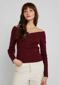 Fashion Union - ELM - Jumper - burgundy - 0