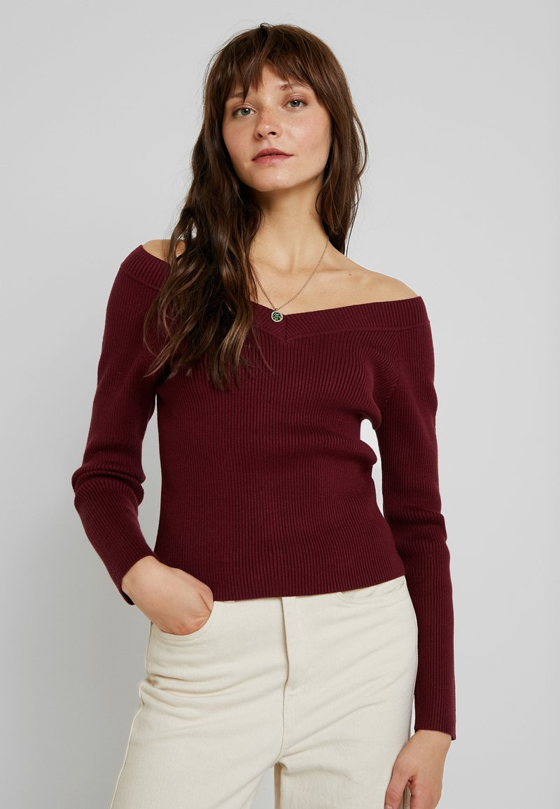 Fashion Union - ELM - Pullover - burgundy