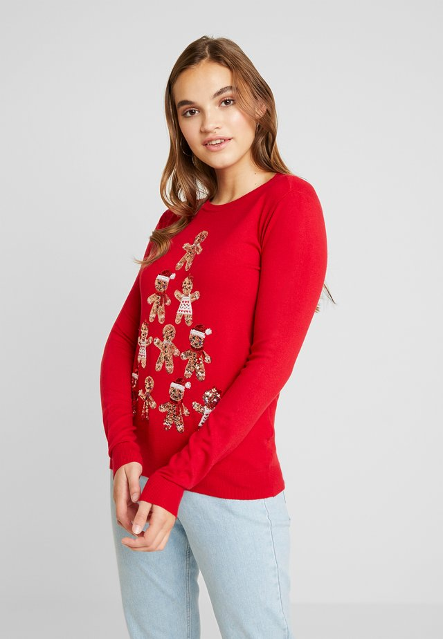 CHRISTMAS GINGER BREAD TREE - Pullover - red