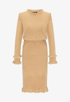 Jumper dress - beige gold