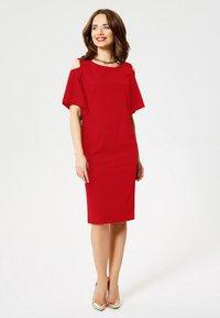 faina - Day dress - red - 1